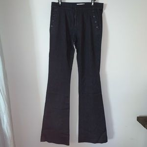 Banana Republic sailor button wide leg jeans